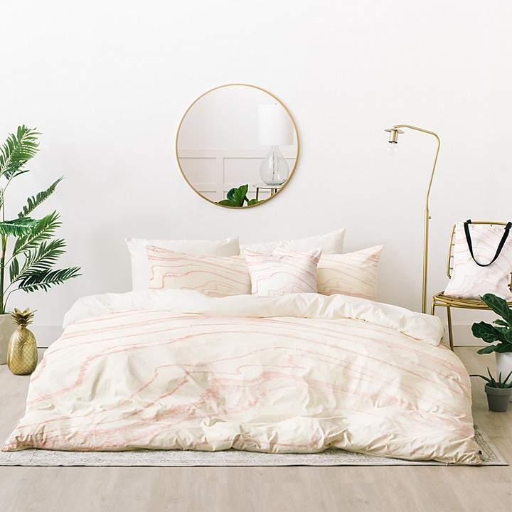 Allen Blush Marble Bed-in-a-Bag, Queen