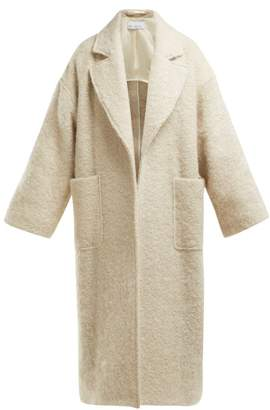 Raey Dropped Shoulder Wool Blend Blanket Coat - Womens - White