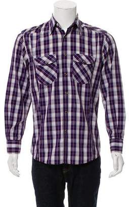 Dolce & Gabbana Plaid Button-Up Shirt