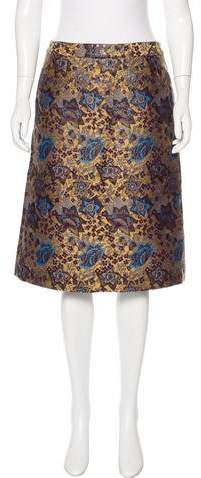 Creatures of the Wind Floral Brocade Skirt