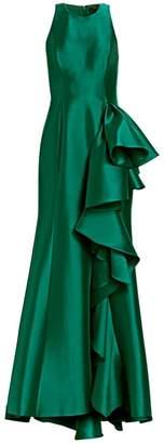 Badgley Mischka Drama Column Gown