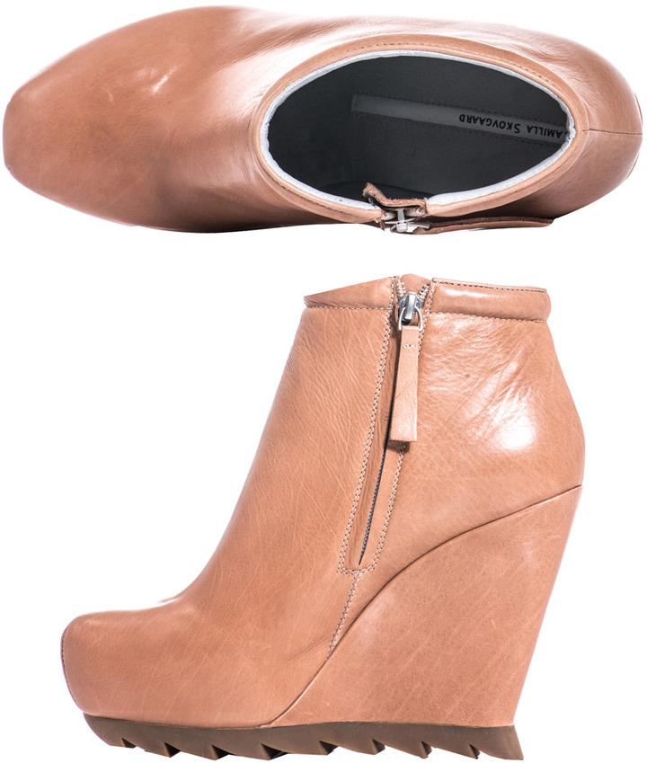 Camilla Skovgaard Saw-sole wedge boots