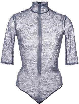 Nina Ricci sheer embroidered bodysuit