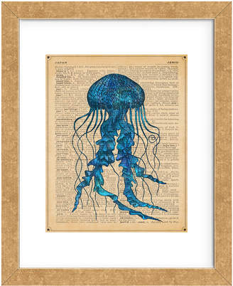 McGaw Graphics Vintage Jellyfish By Sparx Studio Framed Print