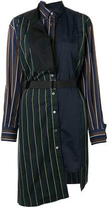 Sacai asymmetric shirt dress