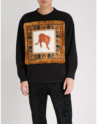 Versace Leopard-print cotton-jersey sweatshirt