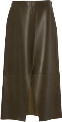 Goldsign The Pieced Leather Skirt Size: 23