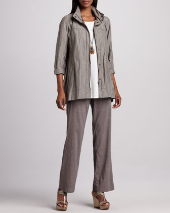 Eileen Fisher Hooded A-line Jacket