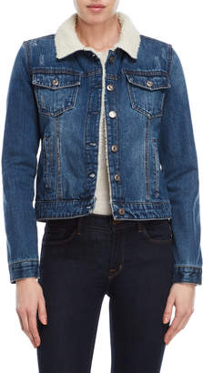 Kensie Sherpa Denim Jacket