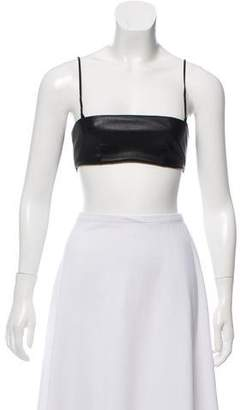 Saint Laurent Sleeveless Leather Bandeau