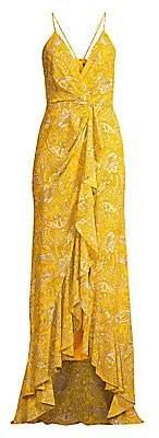 Jay Godfrey Women's Elsie Paisley Ruffle Maxi Dress