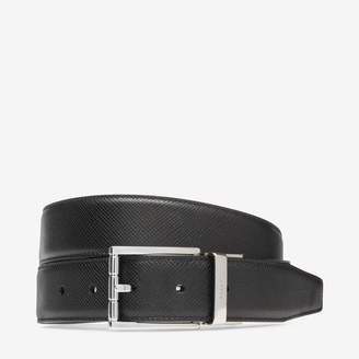 Bally Astor 35Mm Black, Men's calf leather adjustable/reversible belt in black