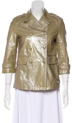 Gryphon Notched-Lapel Leather Jacket