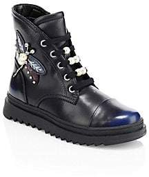 Geox Kid's Gilly Embellished Moto Boots