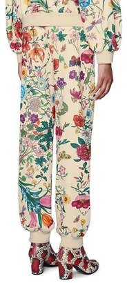 Gucci Jogging pant with Flora print