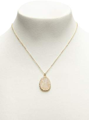 Forever 21 Faux Druzy Stone Pendant Necklace