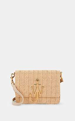 J.W.Anderson Women's Logo Mini Raffia & Leather Crossbody Bag - Natural