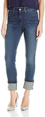 NYDJ Women's Alina Wide Cuff Skinny Ankle Jeans
