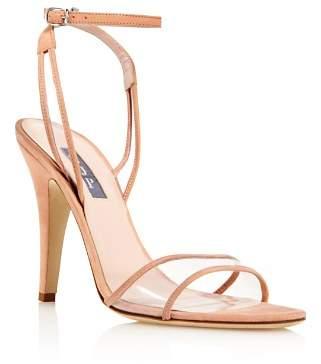 Sarah Jessica Parker Women's Queen Suede Illusion High-Heel Sandals - 100% Exclusive
