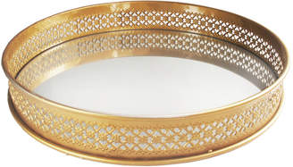 Jay Imports 15In Gold Round Tray