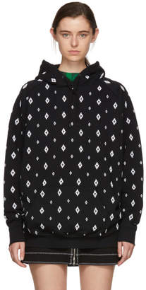 Marcelo Burlon County of Milan Black and White Embroidered Cross Hoodie