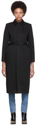 Balenciaga Black Cotton Twill Trench Coat