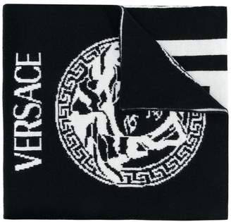 Versace Medusa Head knitted scarf