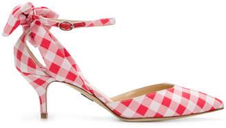 Paul Andrew Anya gingham kitten sandals
