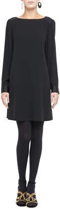 Eileen Fisher Washable Silk Long-Sleeve Dress, Plus Size