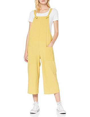New Look Women's Grid Check Dungarees, (Yellow Pattern 89), (Size:)