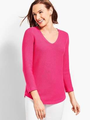 Talbots Round-Hem V-Neck Sweater