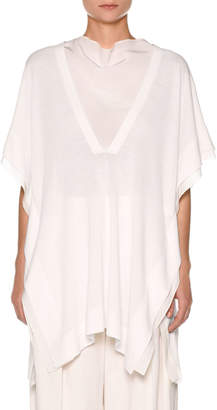 Agnona Oversized Knit Tunic with Contrast Panels