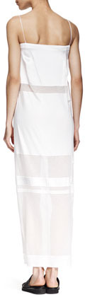 Helmut Lang Horizon Long Paneled Dress