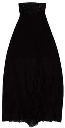 Saint Laurent Silk Evening Dress w/ Tags Black Silk Evening Dress w/ Tags
