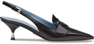 Prada pointed sling back pumps