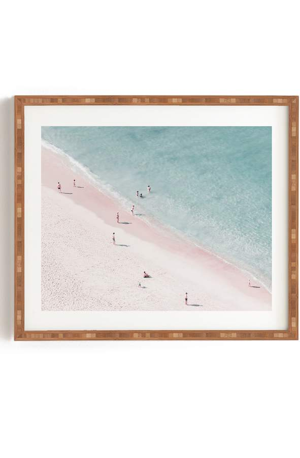 Deny Designs Ingrid Beddoes - Beach Summer of Love Framed Wall Art