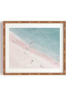 Deny Designs Ingrid Beddoes - Beach Summer of Love Framed Wall Art