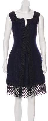 Anna Sui Macramé-Trimmed Tweed Dress
