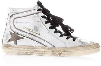 Golden Goose Superstar White Aged Leather High-top Sneakers