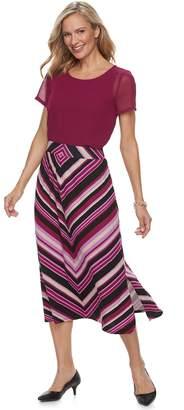 Dana Buchman Women's Side-Slit Midi Skirt