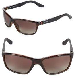 Carrera 61MM Rectangular Sunglasses