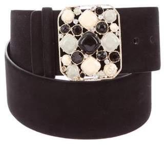 Chanel Gripoix Suede Belt