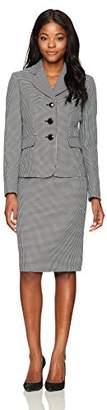 Le Suit Women's Novelty 3 Button Skirt Suit
