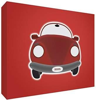 Keepsake Feel Good Art Block – Decorative Baby's, Design Car Pequeño - 7.4 x 10.5 x 2 cm blue/white