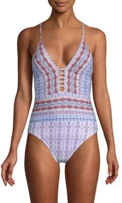 Sorrento Plunge One-Piece Swimsuit