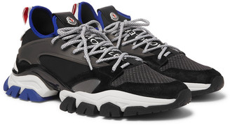 Moncler Trevor Mesh, Neoprene, Suede And Rubber Sneakers