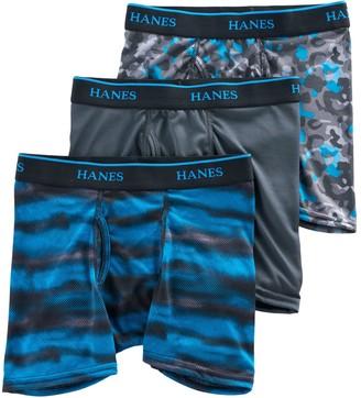 fd6b57d6901b Hanes Boys 3-Pack X-Temp Performance Boxer Briefs
