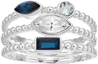 Brilliance+ Brilliance Triple Row Cluster Ring with Swarovski Crystals