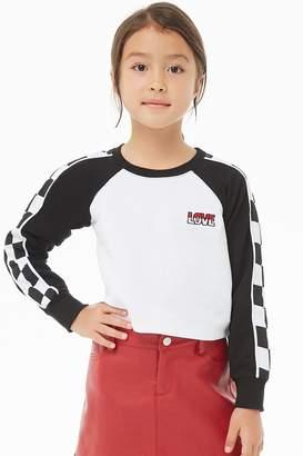 Forever 21 Girls Checkered Love Sweatshirt (Kids)