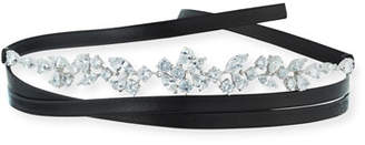Fallon Monarch Florette Leather Choker Necklace with Crystals